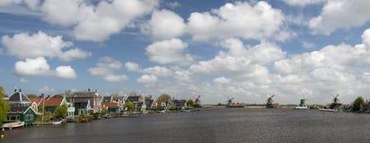 Zaanse Schans, canal de la Hollande Photos libres de droits