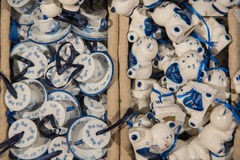 Zaanse Schans, die Niederlande - 13. Dezember 2016: Dekorationen im Dorf von Zaanse Schans, Holland Stockfotografie