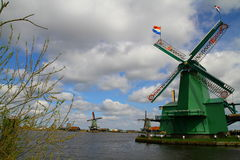 Zaanse Schans Dutch Wind Mills - Netherlands Royalty Free Stock Photography