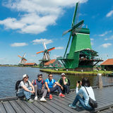 Zaanse Schans, family. Family visit at Zaanse Schans Holland Royalty Free Stock Photos