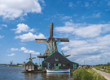 Zaanse schans. The famous dutch mill at the Zaanse schans in Holland.  Just north of Amsterdam Stock Images