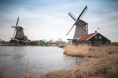 Zaanse Schans historic town of Netherlands Royalty Free Stock Images