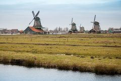 Zaanse Schans historic town, Netherlands Stock Photos