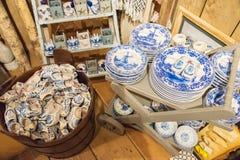 Zaanse Schans, holandie - Grudzień 13, 2016: Dekoracje w wiosce Zaanse Schans, Holandia Zdjęcia Stock
