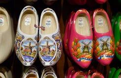 ZAANSE SCHANS holandie - 21 09 2015: Handmade holenderski chodak Obrazy Stock