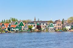 Zaanse Schans in Holland royalty free stock photo