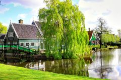 Zaanse Schans in Holland Stock Photos