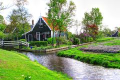 Zaanse Schans in Holland Stock Image