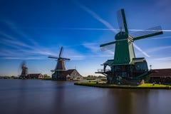 Zaanse Schans mycket populära turist- dragningar i Holland Arkivbilder