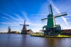 Zaanse Schans mycket populära turist- dragningar i Holland Royaltyfria Foton