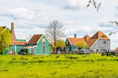 Architecture of Zaanse Shaans, Netherlands royalty free stock images