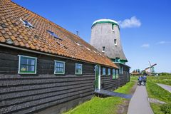 A picturesque ethnographic village. Zanes-Schans. Netherlands Royalty Free Stock Photos
