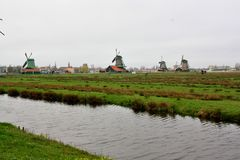 Zaanse Schans, Netherlands Royalty Free Stock Photo