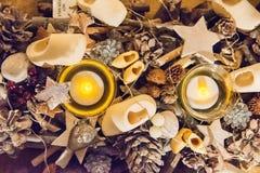 Zaanse Schans, Países Baixos - 13 de dezembro de 2016: Decorações na vila de Zaanse Schans, Holanda Imagem de Stock Royalty Free