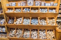Zaanse Schans, Pays-Bas - 13 décembre 2016 : Décorations dans le village de Zaanse Schans, Hollande Images stock