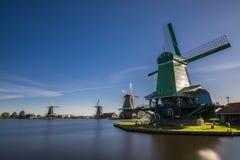 Zaanse Schans Prawdziwe popularne atrakcje turystyczne w Holandia Zdjęcie Stock
