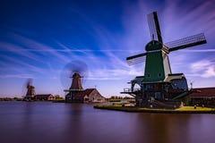 Zaanse Schans Prawdziwe popularne atrakcje turystyczne w Holandia Obrazy Royalty Free