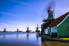 Zaanse Schans Prawdziwe popularne atrakcje turystyczne w Holandia Fotografia Stock