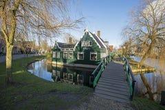 Zaanse Schans. Traditional buildings in the Zaanse Schans, Zaandam, The Netherlands royalty free stock images