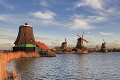 Zaanse Schans typical windmills. Stock Photography