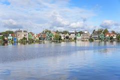 ZAANSE SCHANS Vila holandesa surpreendente Fotografia de Stock Royalty Free