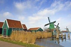 Zaanse Schans Windmühlen Lizenzfreies Stockfoto