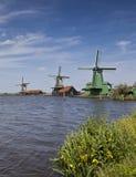 Zaanse Schans, Windmühlen von Holland Stockfotografie