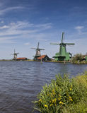 Zaanse Schans, windmills of Holland Stock Photography