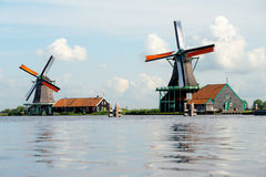 Zaanse Schans Windmills, The NEtherlands. Royalty Free Stock Photography