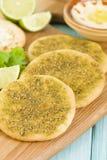Zaatar & сыр Manakish Стоковые Изображения