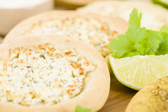 Zaatar & Cheese Manakish Royalty Free Stock Photo