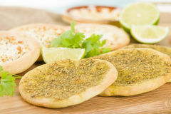 Zaatar & Cheese Manakish Stock Photography