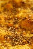 Zaatar pikantności mieszanka z naan chlebem Fotografia Royalty Free