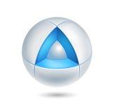 Zaawansowany technicznie abstrakcjonistyczna ikona - 3d wektor Ilustracja Wektor