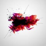 zaawansowany technicznie abstrakcjonistyczny sztandar Zdjęcia Stock