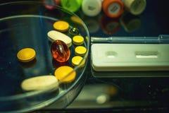 Zaawansowany technicznie lab wyposażenie używać w w Vitro nawożenia procesu odratowania jajecznej procedury Laboranckim nawożeniu Zdjęcie Stock
