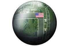 Zaawansowany Technicznie obwód piłka obraz stock