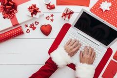 Zaawansowany technicznie Santa Fotografia Royalty Free