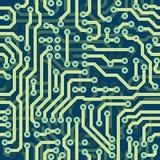 Zaawansowany technicznie schematyczna bezszwowa wektorowa tekstura - elec Obraz Stock