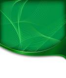 zaawansowany technicznie sztandar abstrakcjonistyczna zieleń Zdjęcie Royalty Free
