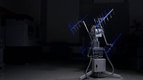 zaawansowany technicznie Wyszukane komunikacje elektroniczne, radio lub tv antena, Demonstracja zaawansowany technicznie antena p Fotografia Stock