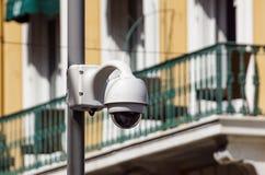 Zaawansowany technicznie zasięrzutny kamery bezpieczeństwa fot videosurveillance Obraz Royalty Free