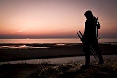 Zabójca przy morzem zdjęcia royalty free