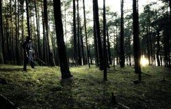 Zabójca w głębokim lesie Zdjęcia Royalty Free
