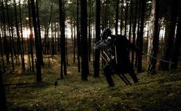 Zabójca w głębokim lesie Obrazy Stock