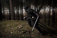 Zabójca w głębokim lesie Fotografia Stock