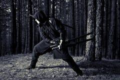 Zabójca w głębokim lesie Obrazy Royalty Free