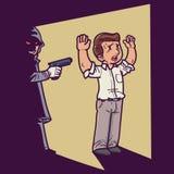 Zabójca w zmroku ilustracja wektor