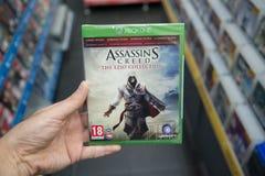 Zabójcy ` s kredo Ezio Inkasowy gra wideo na XBOX Jeden obraz royalty free