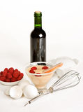 Zabaglione cookery Stock Images